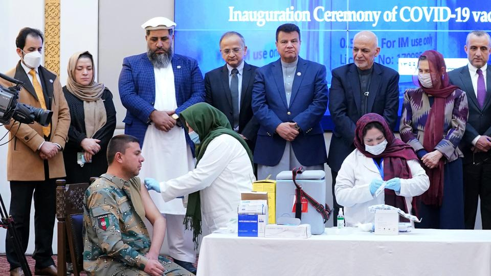 Afghanistan begins its Covid-19 vaccination campaign – latest updates