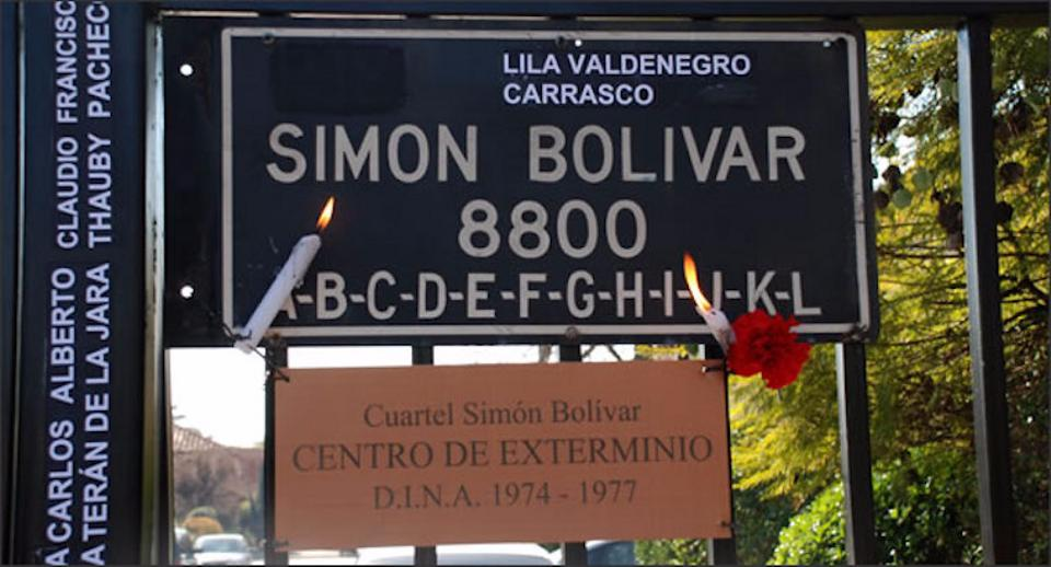 The notorious Cuartel Simon Bolivar, an extermination centre where many of the worst atrocities of Chiles military dictatorship took place in the 1970s.