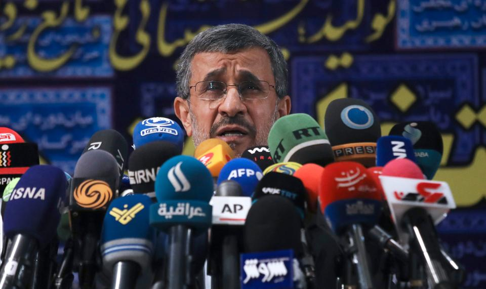 The former Iranian President Mahmoud Ahmedinejad also had harsh words for the Taliban, calling its coming to power in Afghanistan