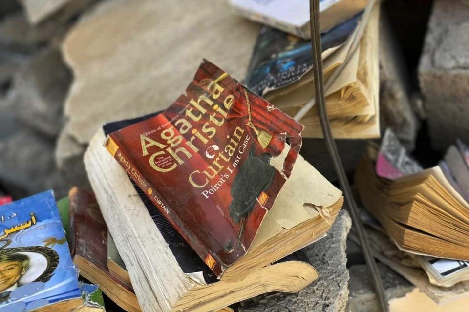 An English copy of British crime novelist Agatha Christie's book