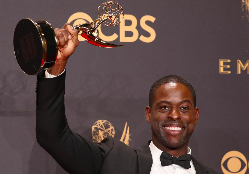 This is Us actor Sterling K.Brown became the first black man tsince 1998 o win an Emmy for best actor in a drama series.