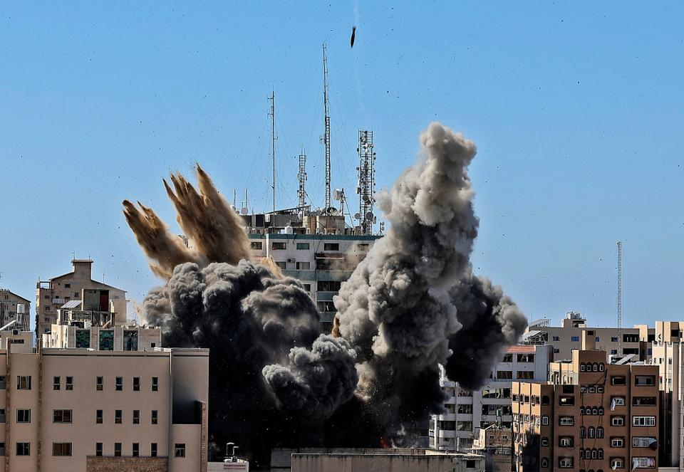 Six high-rise buildings have been completely destroyed, according to Gaza's government information office.