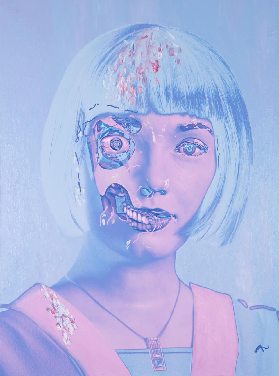 Ai Da An ultra realistic robot artist gets her day in the spotlight
