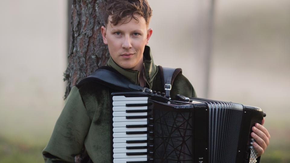 """Accordionist Martynas Levickis will be accompanied by the Borusan Istanbul Philharmonic Orchestra, for a performance called """"Piazzolla's 100th Birthday."""""""