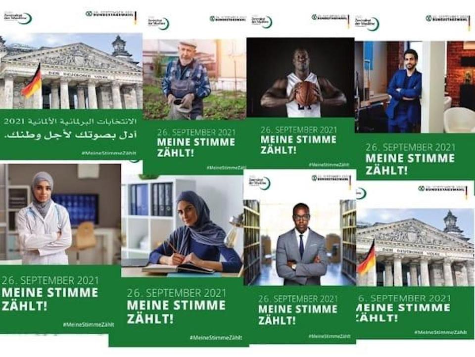 Central Council of Muslims in Germany has a campaign for greater participation of Muslims in society called 'My Vote Counts'.