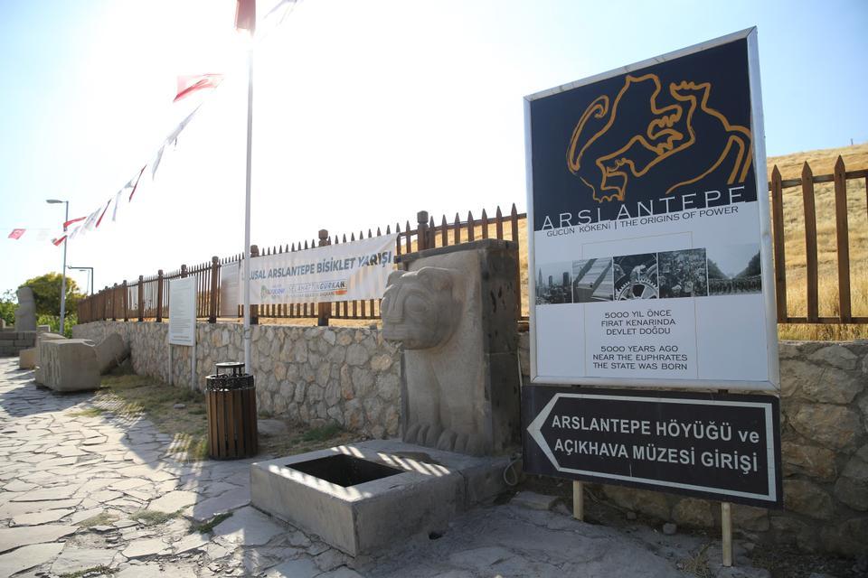 The entrance to Arslantepe Mound and Arslantepe Open Air Museum.