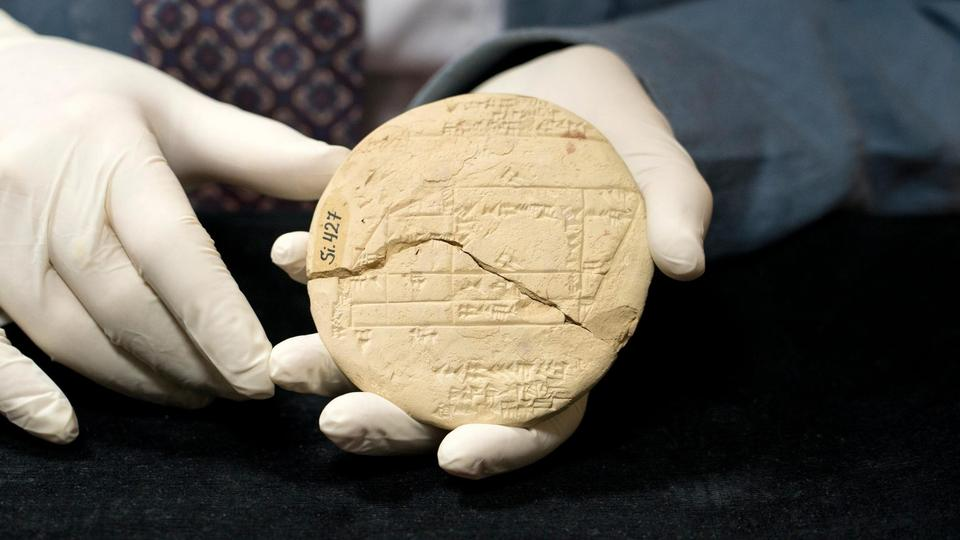 Si.427, the clay tablet from 1900-1600 BC, created by an Old Babylonian surveyor can be seen in the Istanbul Archeology Museum.
