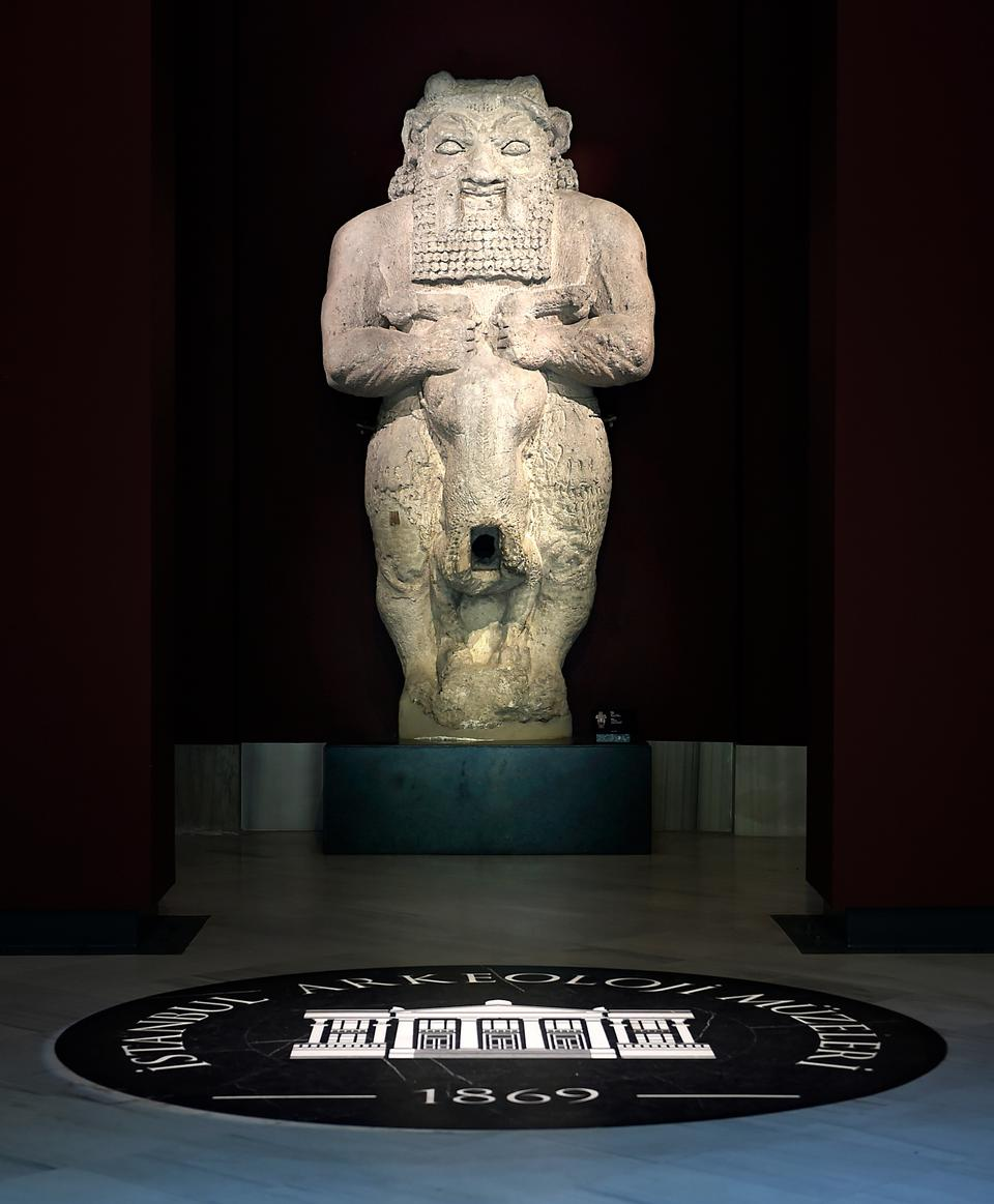 The Egyptian god Bes, protector of infants and expectant mothers, welcomes you to the main building. 7th-6th century BCE. Amathus, Cyprus.