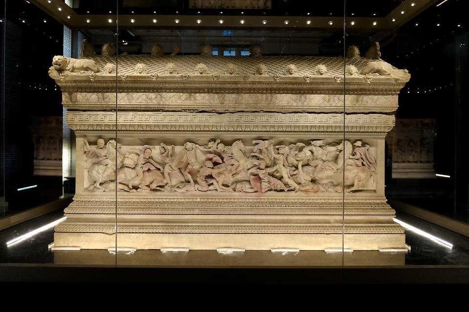 Alexander sarcophagus, marble. 312-307 BCE. Sidon (Saida, Lebanon).