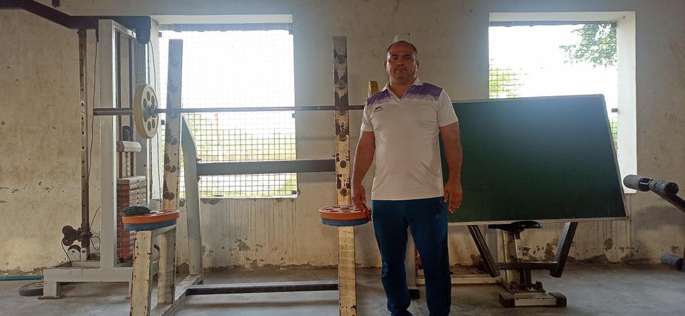Coach Rajesh Kumar at his academy in Sonipat, Haryana.