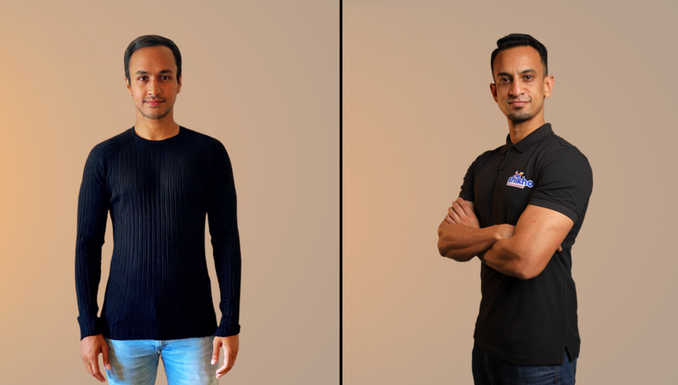 Shikho's founders, CEO Shahir Chowdhury, left, and COO Zeeshan Zakaria. The two friends launched the company in 2019 after working in the financial services in the UK.