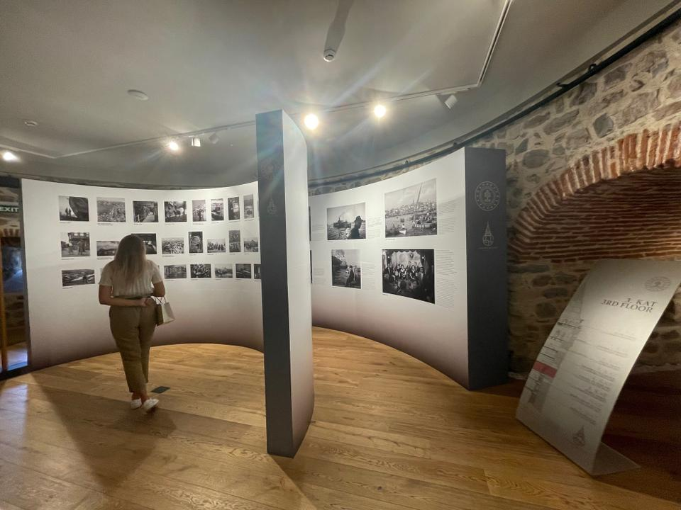 The Galata Tower's third floor exhibition continues until the end of October 2021.