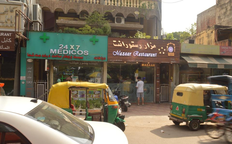 Lajpat Nagar neighbourhood in India's national capital, where many Afghan refugees live.