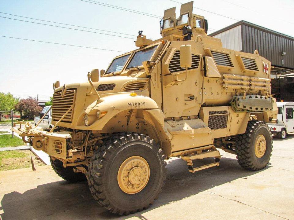 Mine-resistant vehicles (MRAPs)