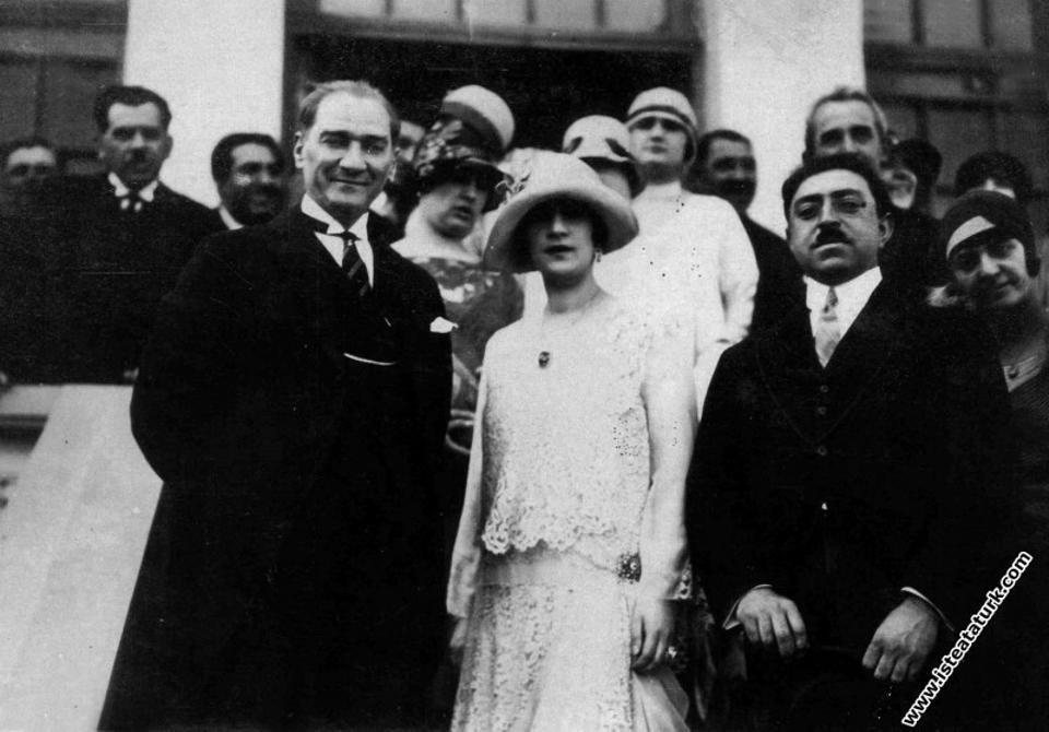 Mustafa Kemal Ataturk, Soraya Tarzi and Amanullah Khan, Ankara, 1928.