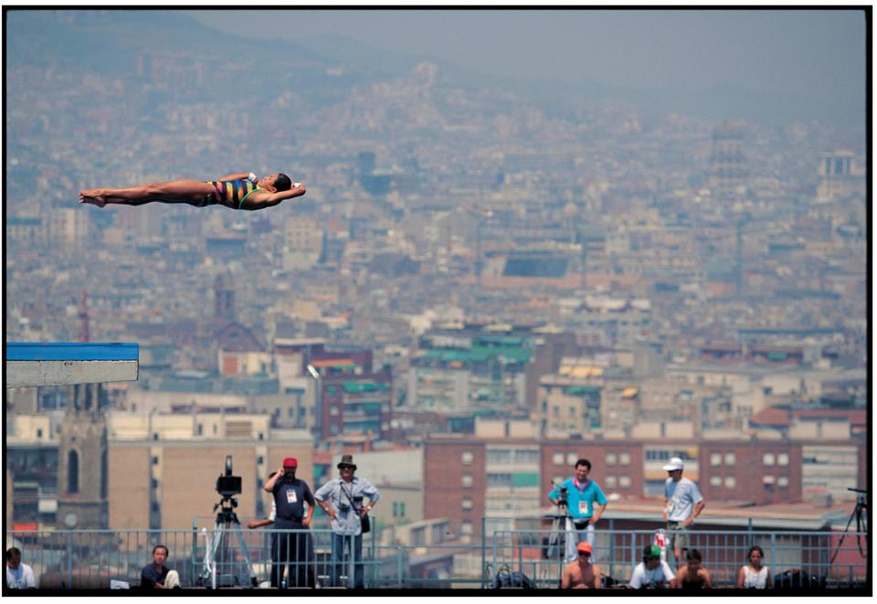 David Burnett, Fu Ming Xia wins gold: Barcelona, 1991.