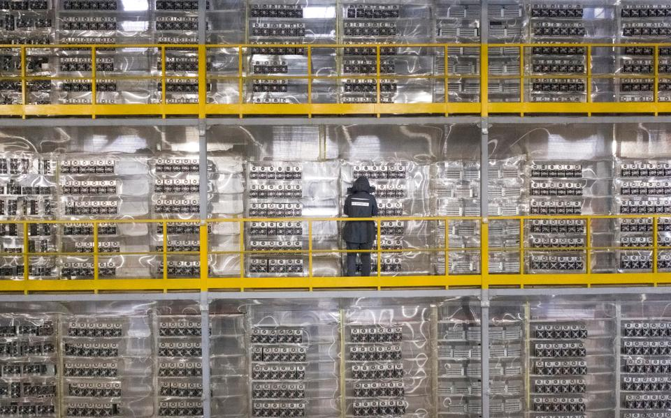 The energy intensive data centre of BitRiver that provides services for cryptocurrency mining in the Irkutsk Region of Russia.