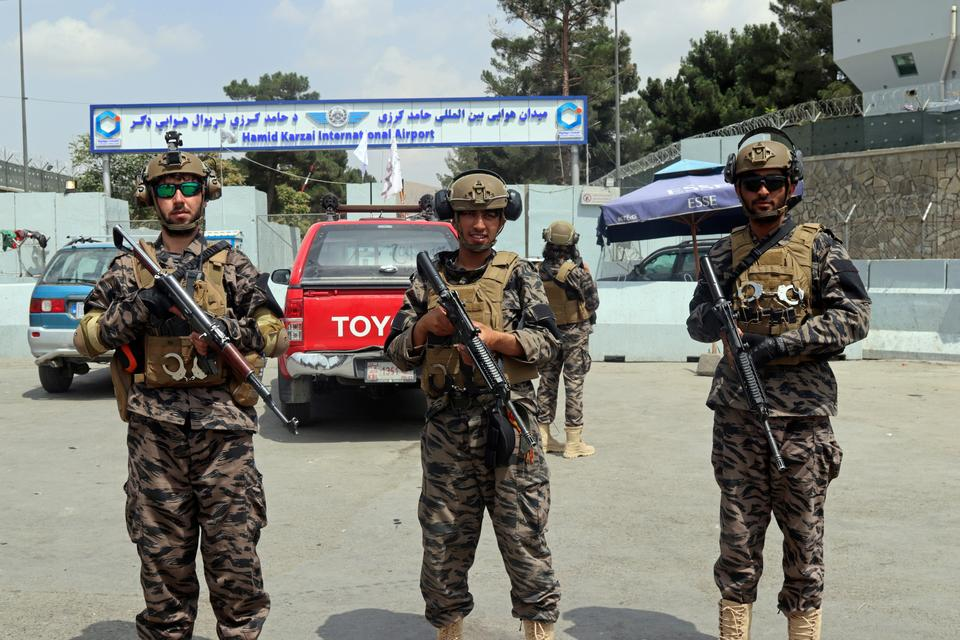 After the fall of Kabul, Taliban's elite Badri 313 unit took control of key locations in the Afghan capital. They are seen wearing tactical outfits instead of the traditional Afghan suit.