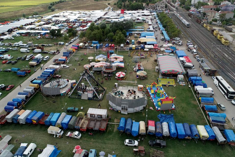 Aerial view of the 2021 Pavli Fair.
