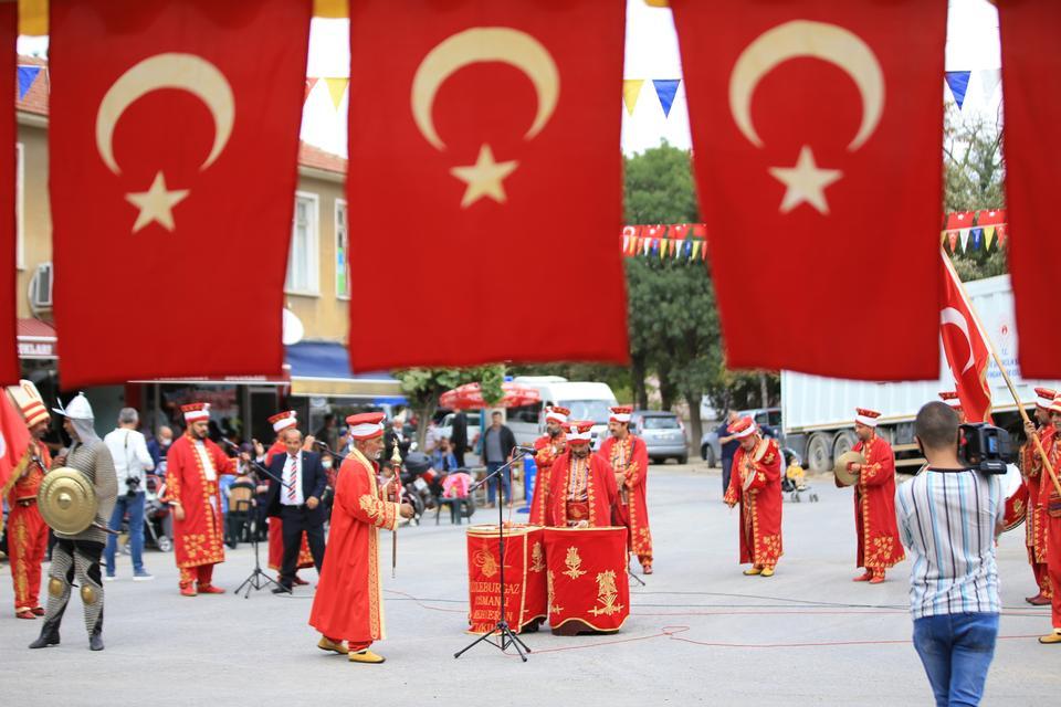 An Ottoman military band at the Pavli Fair.