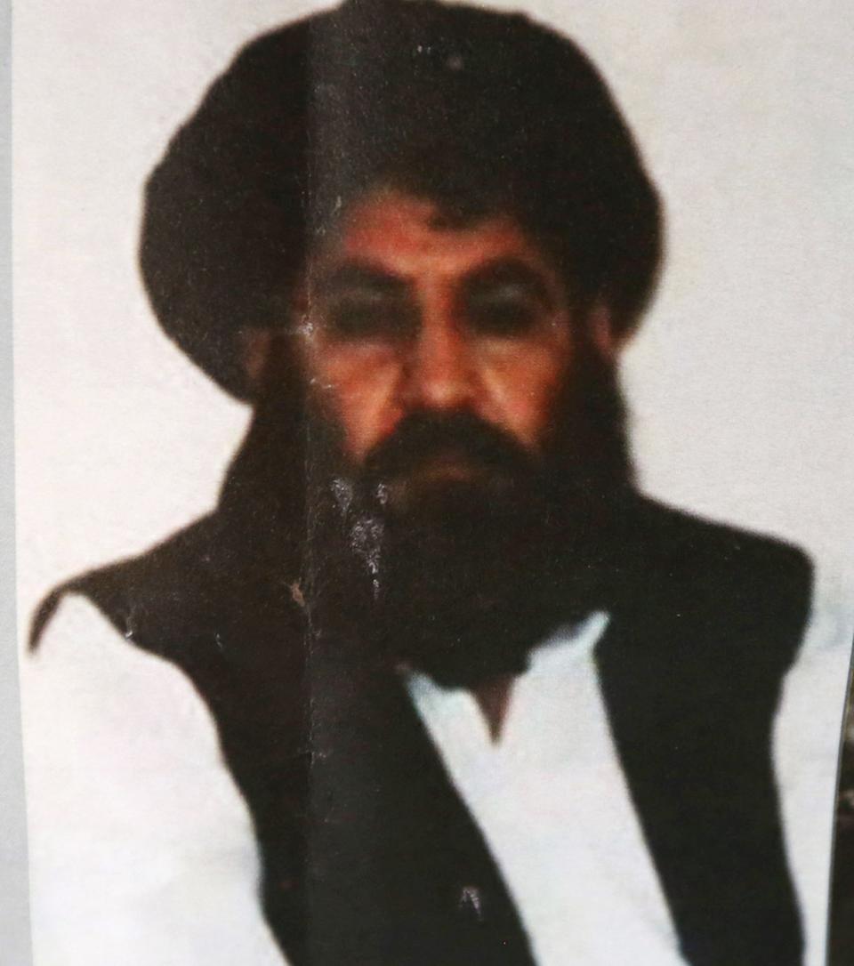 This Aug. 1, 2015 file photo shows Taliban leader Mullah Mansour, who preceded the group's current spiritual leader Mullah Haibatullah Akhundzada.