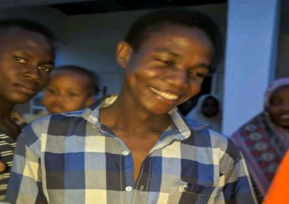 Yusuf Adamu after released by Boko Haram, reuniting with his loved ones