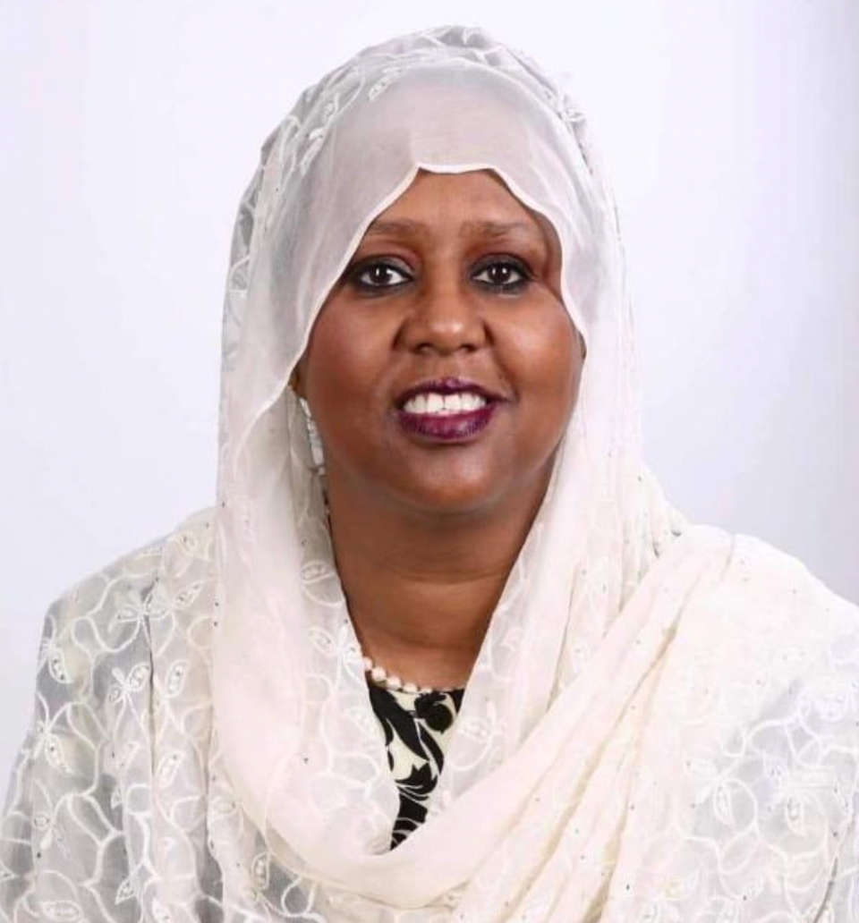 Somalia's first female foreign minister and deputy prime minister became country's only female presidential candidate (Fawzia Yusuf Adam)