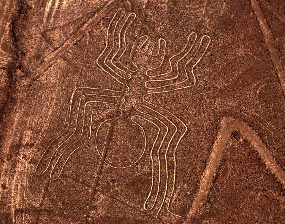 Looking at the meaning of these symbols in the Peruvian ancient age, it displays that spiders are believed to be a token of rain,