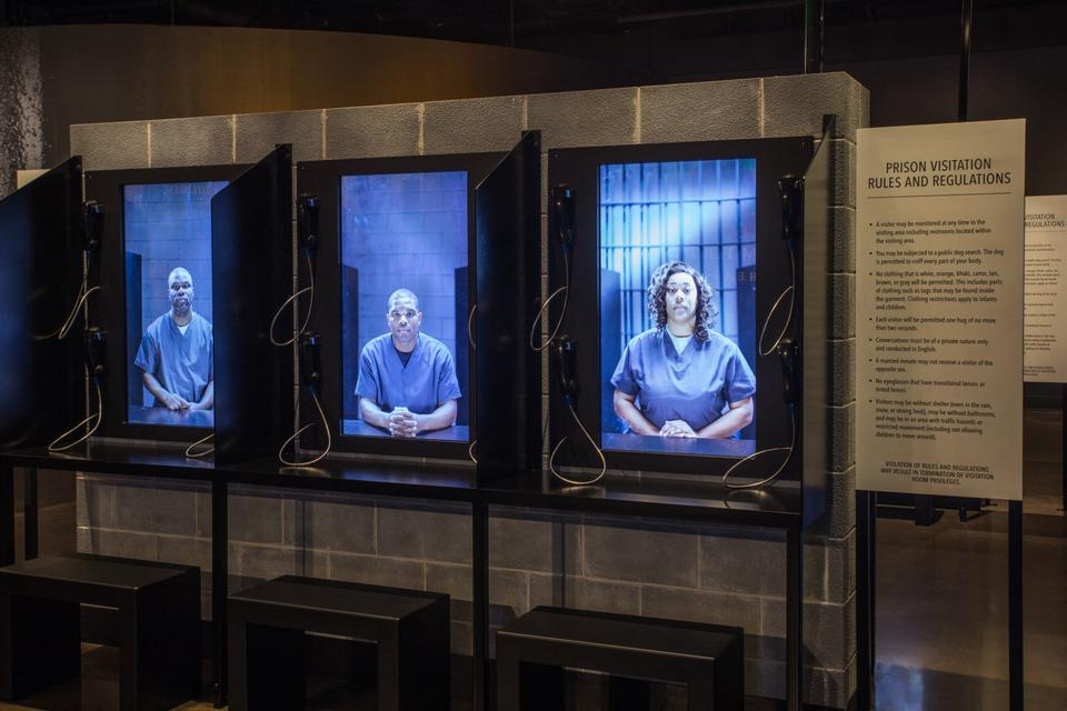 Image courtesy of the Equal Justice Initiative, shows an exhibit at the Legacy Museum