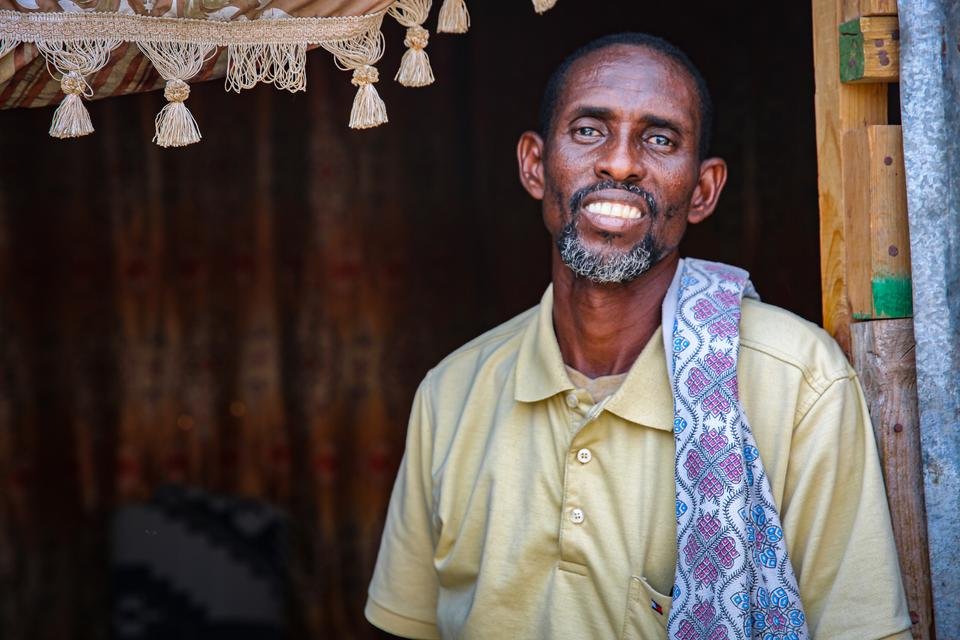 Hijar Ali arrived in Bossaso as an internall displaced migrant almost 26 years ago when conflict drove him out of his hometown in Jowhar, a rural town about 90 kilometres away from Mogadishu.