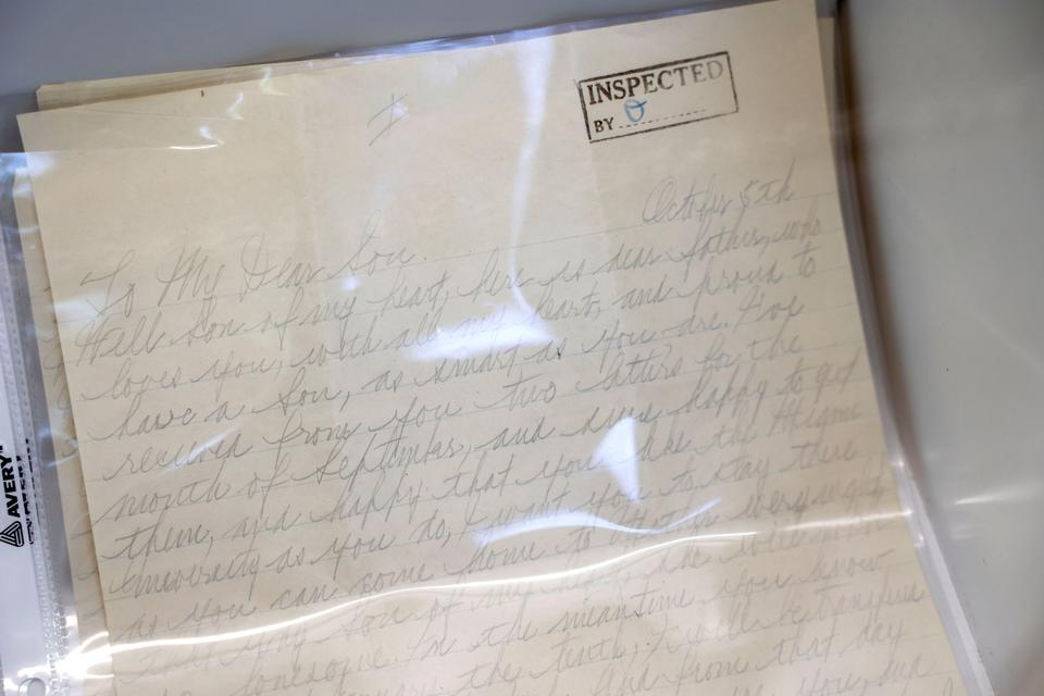 A personal letter to Sonny Capone from his father, Al Capone