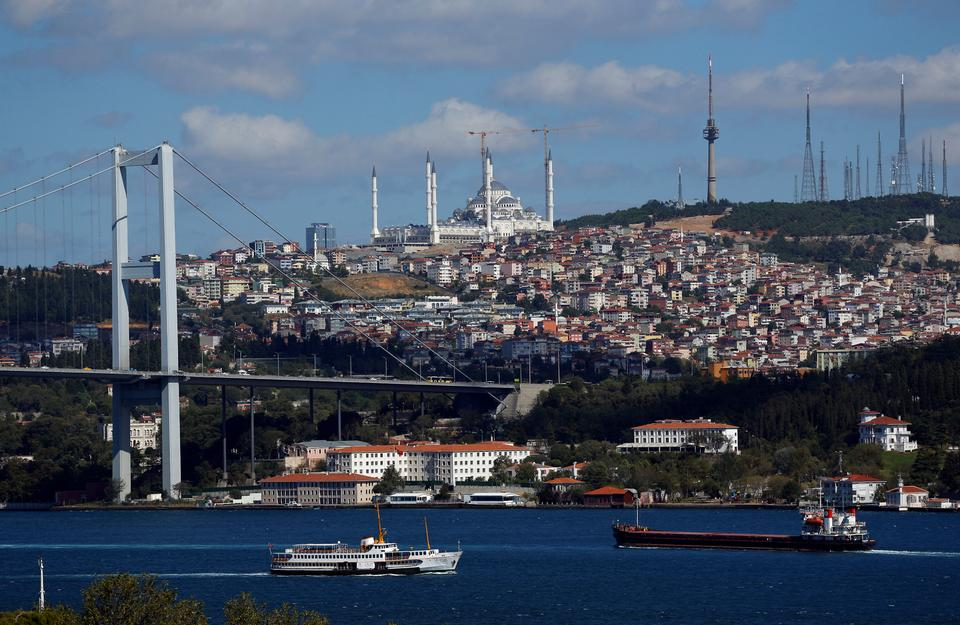 The Bosphorus in Istanbul. Turkey is also reporting a surge in tourism, a mainstay of the economy. (Reuters archive)