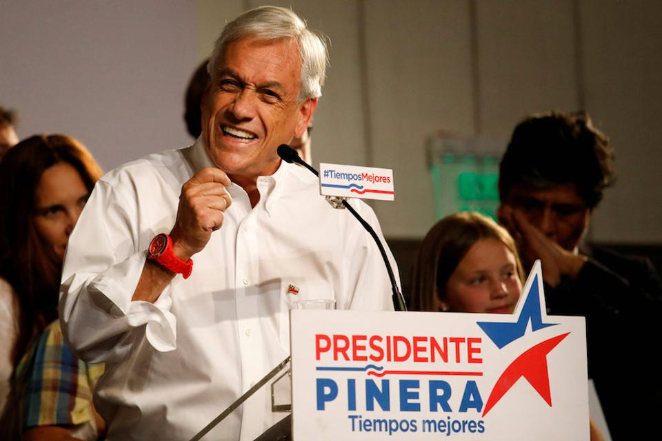 Pinera has promised Chilean public to double economic growth and by 2025 make the country the first in Latin American to achieve
