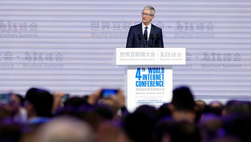 The conference, which is overseen by the Cyberspace Administration of China (CAC) invited foreign executives, Apple Inc's CEO Tim Cook and Google Inc chief Sundar Pichai as well as a Facebook Inc executive.