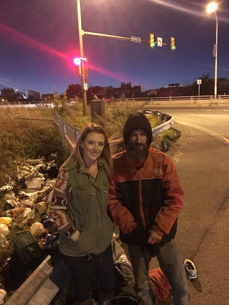 This photo taken from gofundme.com shows Kate McClure and Johnny Bobbitt Jr. (File photo)