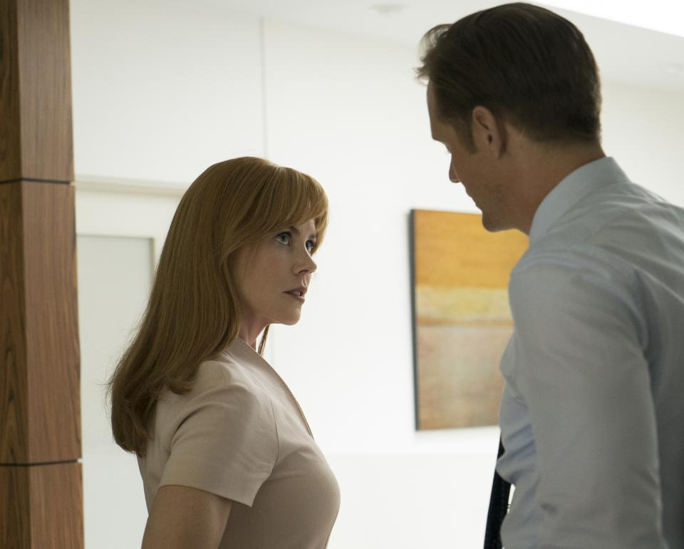 Nicole Kidman (L) and Alexander Skarsgard (R) in the Emmy Award winning
