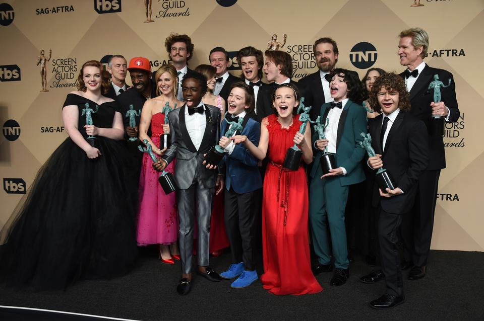 Earlier this year, 'Stranger Things' won the award for outstanding performance by an ensemble in a drama series at the 23rd annual Screen Actors Guild Awards. (File Photo)