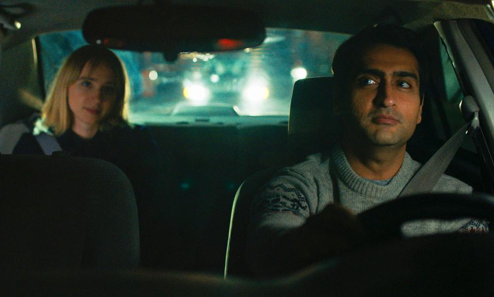 Kumail Nanjiani (R) and Zoe Kazan (L) in a scene from,