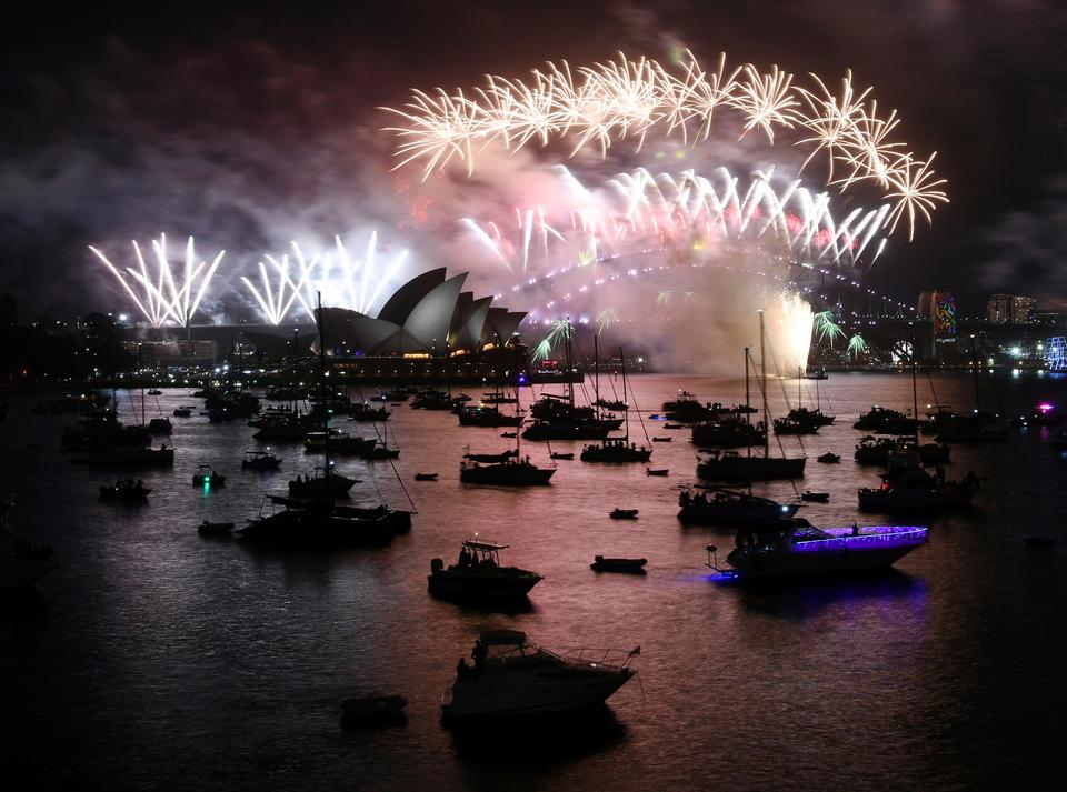 The firework set went off with a bang during Sydney's New Year Eve celebrations after midnight as Hollywood heart-throb Hugh Jackman added star power with his own 20-second firework show tuned to the music of Gurrumul Yunupingu, one of Australia's legendary musicians.