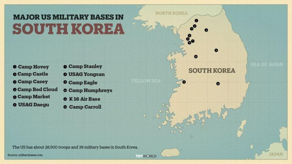 major us military bases in south korea