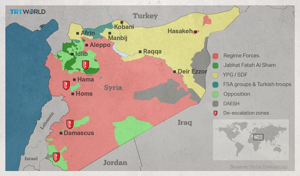 US Says It Will Not Support The YPG In Syrias Afrin - Where is syria and turkey