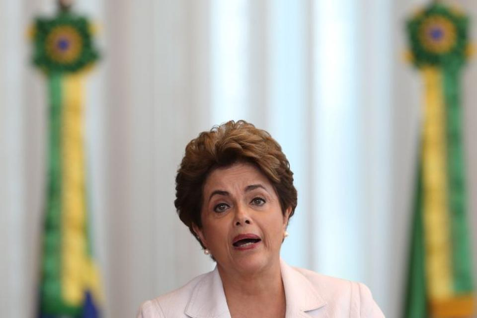 Brazil's suspended President Dilma Rousseff reads a letter to the country in Alvorada Palace in Brasilia, Brazil, August 16, 2016.