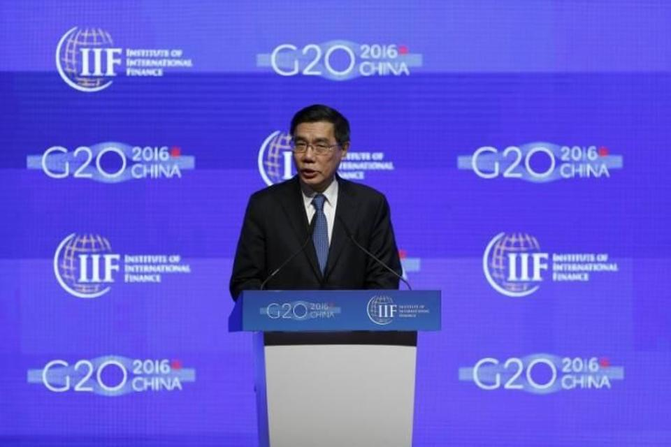 Jiang Jianqing, Chairman of ICBC, attends a conference during the 2016 IIF G20 Conference at the financial district of Pudong in Shanghai, China, February 25, 2016. Image: Reuters.