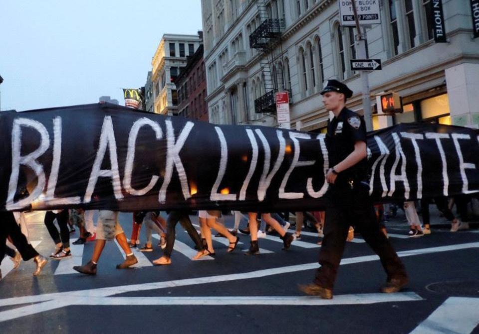 Black Lives Matter protest. Image: Reuters.