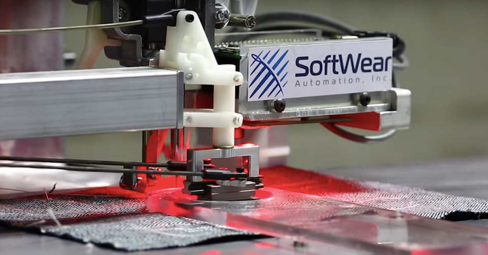 Softwear Automation's work line of robots, which is much faster than humans, is being installed in countries where wages are high.