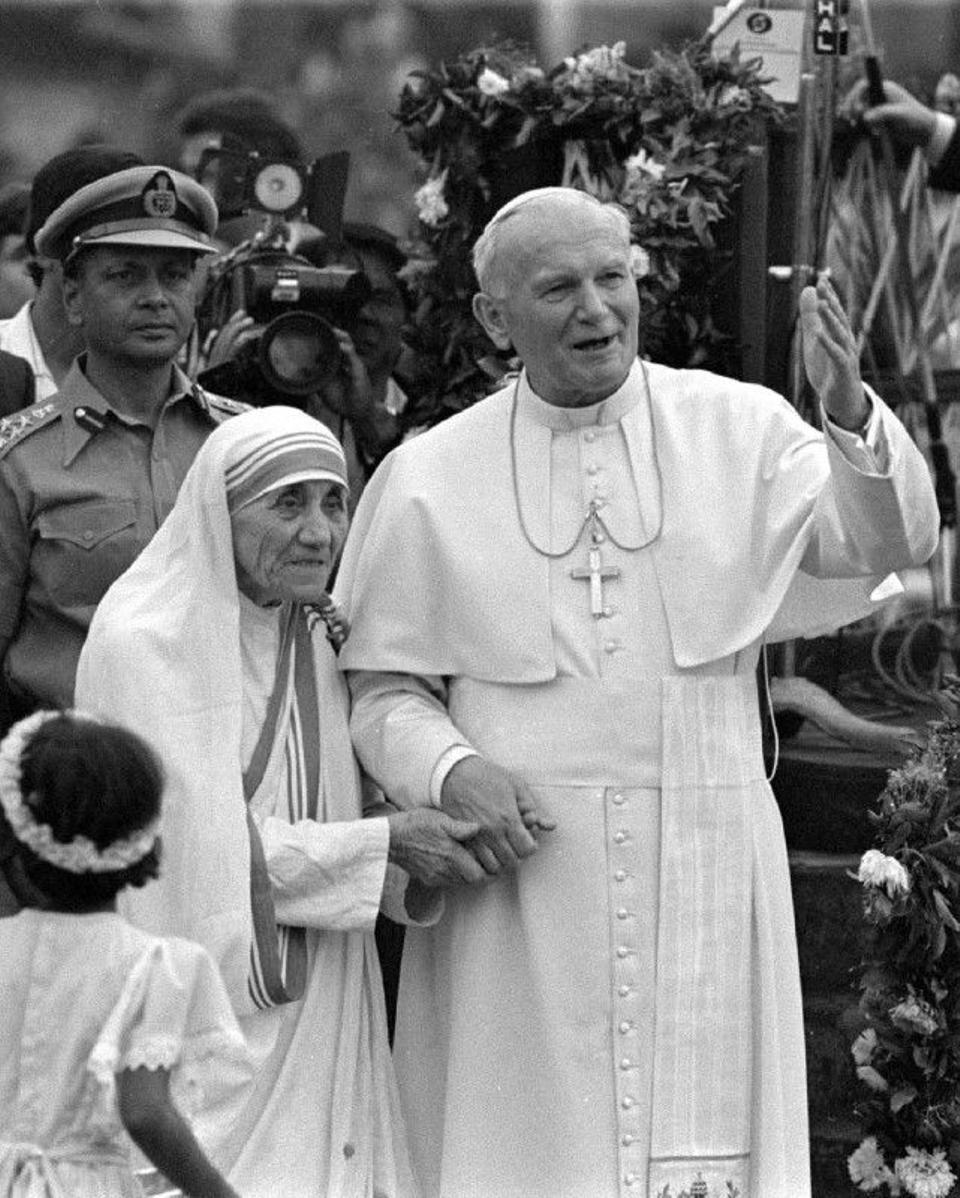 Mother Teresa and the late Pope John Paul would meet often. The former pope bent Vatican rules to grant a dispensation allowing the procedure to establish her case for sainthood to be launched two years after her death instead of the usual five.