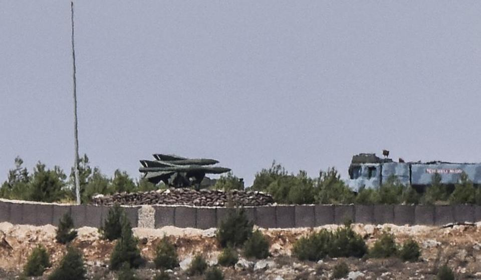 This picture taken on September 5, 2016, in the southern Turkish region of Gaziantep, shows a High Mobility Artillery Rocket System (HIMARS) standing ready for deployment.