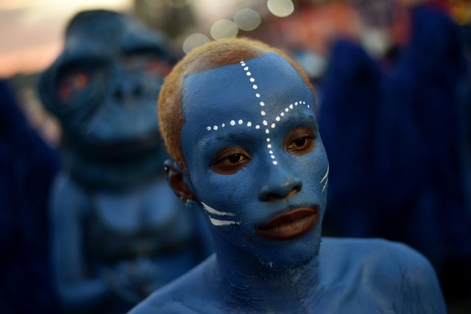 Revelers perform on the second day of the 2018 National Carnival Parade on February 12, 2018, in Port-au-Prince.