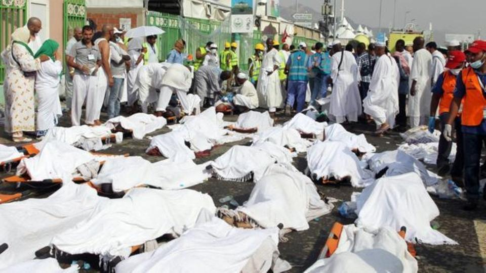 An image from Mina following the stampede during the Hajj pilgrimage in September 2015. Source: AFP