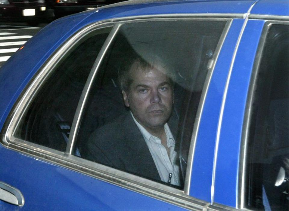 In this November 18, 2003 file photo, John Hinckley arrives at US District Court in Washington. Source: AP